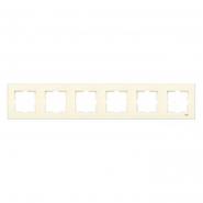 Рамка шестерная горизонтальная крем VIKO Серия KARRE