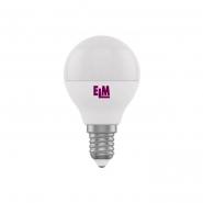 Лампа LED сфера 5W PA10L E14 4000K D45 ELM