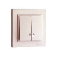 Выключатель  2кл. проходной , Mono Electric, DESPINA ( крем )