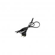Шнур на бра черный с переключателем для бра и торшеров 1,5м
