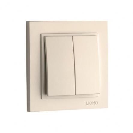 Выключатель 2кл. Mono Electric, DESPINA ( крем ) - 1