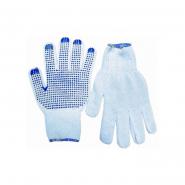 Перчатки х/б белые с синей точкой