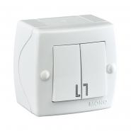 Выключатель 2кл накладной Mono Electric, OCTANS IP 20 белый