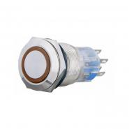 Кнопка метал. с подсв. 2NO+2NC, желтая 220V TYJ 19-272желт    АСКО-УКРЕМ