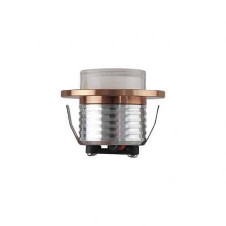 Светильник встраеваемый HOROZ СОВ Led 3W 4200K медь d-47мм 125Lm 016-042-0003-030 - 1