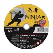 "Круг отрезной по мет. NINJA TM ""VIROK""; d=230х22.23 мм t=1.6 мм"