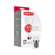 Лампа LED C37 CL-C 4W 4100K 220V E14 Maxus