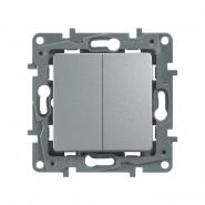 Выключатель/переключатель 2кл алюминий с авт.клемами