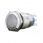 Кнопка металлическая плоская с фиксацией 2NO+2NC TYJ 19-312 АСКО-УКРЕМ