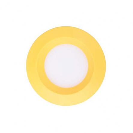 Светильник светодиодный Feron 3W круг, желтый 240Lm 5000K 90*26mm d75mm - 1