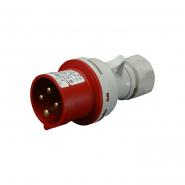 Вилка промышленная IVN (IP 44), 32A, 400V, 4n SEZ