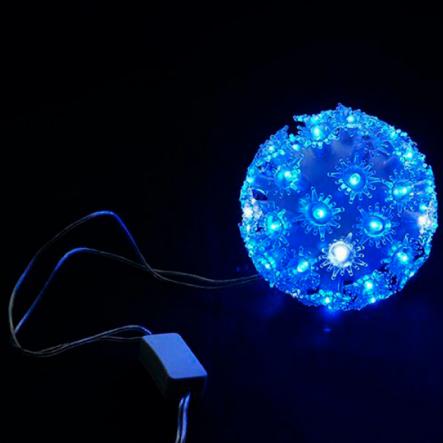 Гирлянда внутренняя DELUX BALL LIGHT 50LED D-10см+1,5 см син/пр IP 20 - 1
