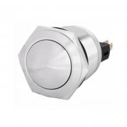 Кнопка 1NO+1NC металлическая выпуклая  22мм 1NO+1NC TYJ 22-231   АСКО-УКРЕМ