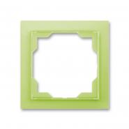 Рамка одинарная Neo белый/зеленый лед