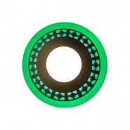 "Панель LED Lemanso ""Кубики"" 6+3W с зелёной подсветкой 540Lm 4500K 160*30mm 175-265V  / LM541 круг"