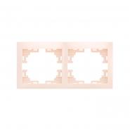 Рамка двойная горизонтальная без вставки крем MIRA LEZARD