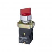Кнопка поворотная 2-позиционная с подсветкой красная XB2-BK2465 АСКО-УКРЕМ