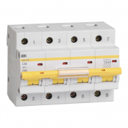 Автоматический выключатель IEK ВА47-100 4p 16A С
