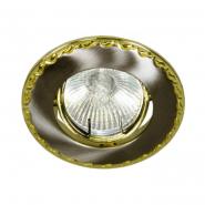 Светильник точечный R-39 титан-золото Е14