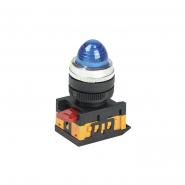 Светосигнальный индикатор IEK AL-22 d22мм синяя неон 240В цил.