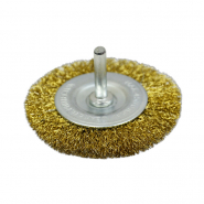 Щетка-крацовка дисковая, латунная со шпилькой 100мм