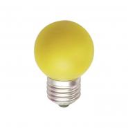 Лампа светодиодная LB-37 G45 1W 230V E27 жёлтая Feron