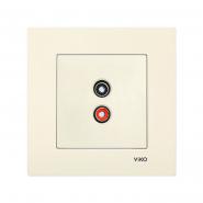 Розетка аудио (для динамиков) крем VIKO Серия KARRE