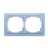 Рамка двойная Neo белый/синий лед