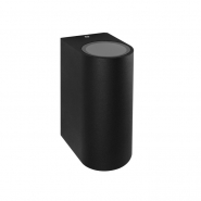 Светильник настенный DH015 230V без лампы MR16/GU10*2,  81*150*92 черный