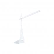 Настольная лампа башня белая