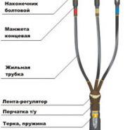 Муфта кабельная КВттп-3 х (16-25)-10  (наконечник AL)