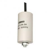 Конденсатор для запуска СВВ-60 150мкФ 450В вывод провод 65*130мм