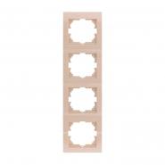 Рамка четверная вертикальная крем DERIY LEZARD
