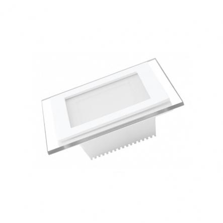 Светильник квадратный EUROLAMP LED стекло Downlight 6W 4000K - 1