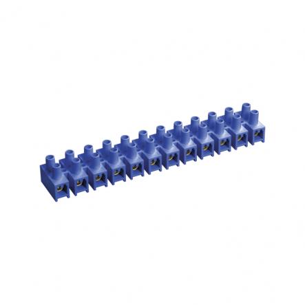 Зажим винтовой ЗВИ-15 н/г 4.0-10мм2 12пар ИЕК синий - 1