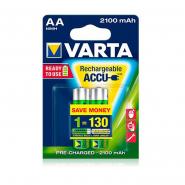 Аккумуляторная батарейка VARTA RECHARGEABLE ACCU AA 2100 mAh BLI 2 NI-MH