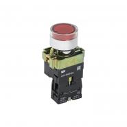 Кнопка  LAY5-BW3461 с подсветкой красный 1НО ИЕК