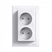 Двойная розетка Schneider Electric Asfora EPH9700121, белая