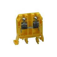 Клеммная колодка однорядная RS 6/3 желтый