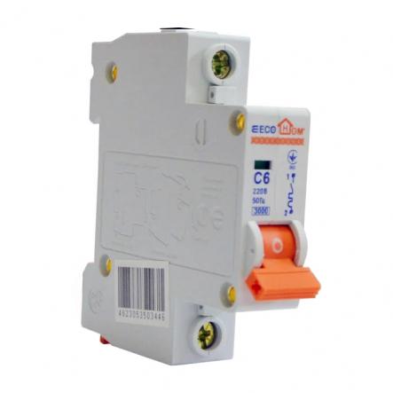 Автоматический выключатель ECOHOME АСКО ECO 1p 6A - 1