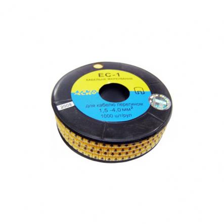 """кабельн. маркир ЕС-1 1,5-3,5 кв.мм символ """"--"""" АСКО - 1"""
