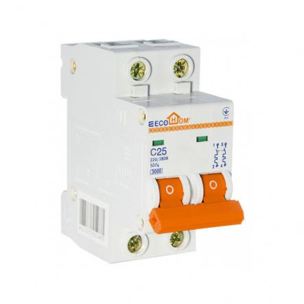 Автоматический выключатель ECOHOME АСКО ECO 2p 25A - 1