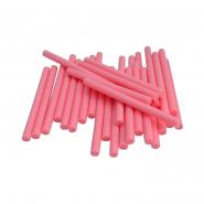 Термоклей тонкий диам.-7мм, L: 100мм, розовый, 1кг.