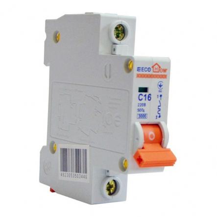Автоматический выключатель ECOHOME АСКО ECO 1p 16A - 1