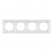 Рамка 4-я горизонтальная белая MERIDIAN