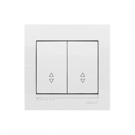 Выключатель двойной проходной белый DERIY LEZARD - 1