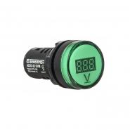 Вольтметр цифровой AD22-22DVM зеленый д.22мм АСКО-УКРЕМ
