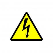 Табличка Осторожно! Электрическое напряжение (треугольник) (160 мм) У 2.5