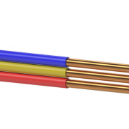 Провод установочный с медной жилой плоский ПУНП 3х1,5
