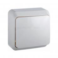Выключатель   одноклавишный BЗ10-1-0-Cm-W